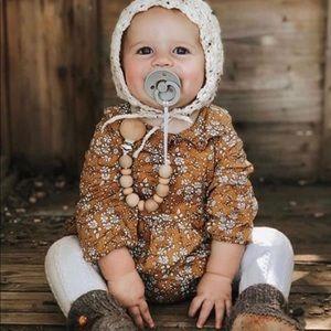 Brand New Mustard Floral Baby Girl Romper 3-6 M